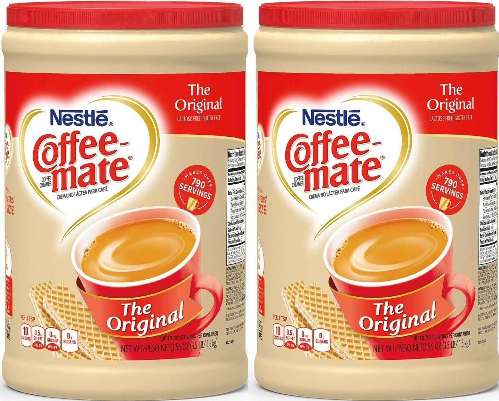 2 Packs Nestle Coffeemate Powder Original NonDairy
