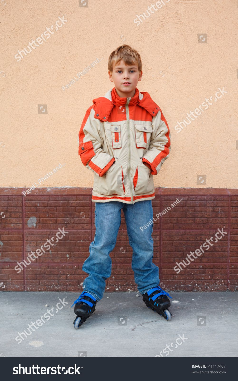 boy standing on roller skates in the yard #Ad , #affiliate, #standing#boy#roller#yard