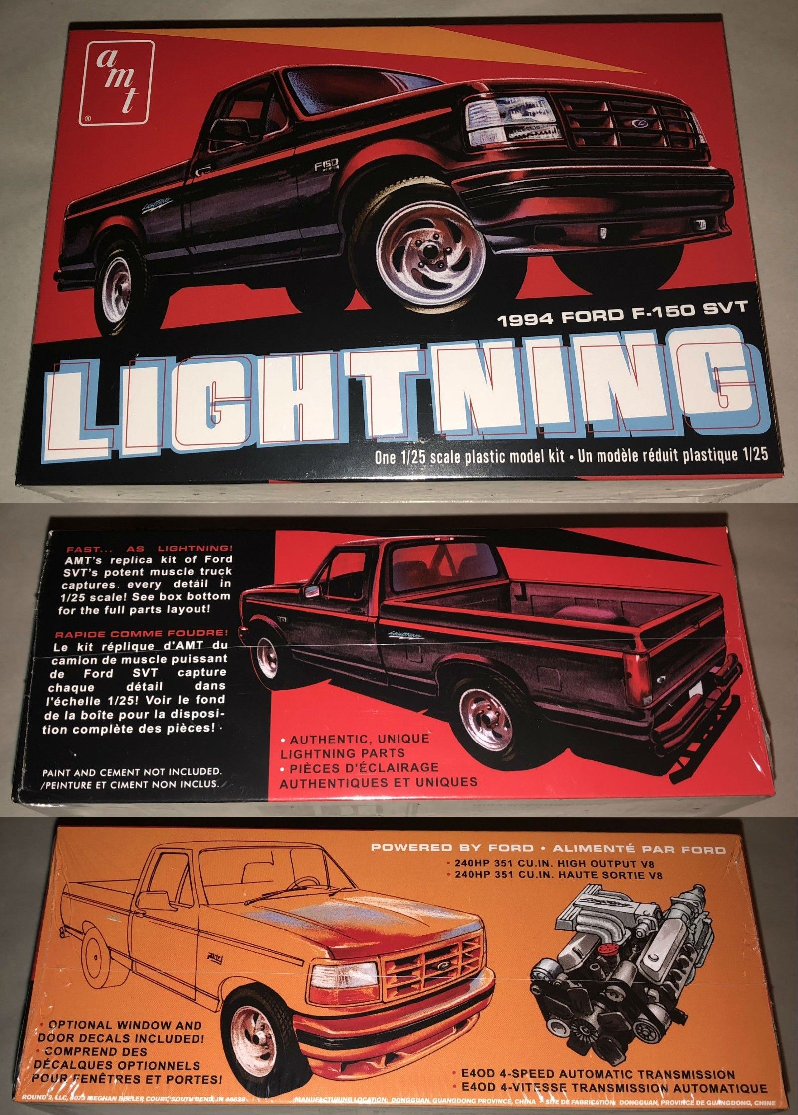 Classic 2581 Amt 1994 Ford F 150 Lightning Pickup Truck 1 25 Scale Model Kit 1110 Buy It Now Only 24 99 On Plastic Model Kits Model Kit Truck Detailing