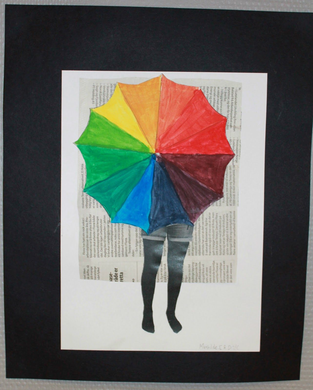 I 5. og 6. klasse har vi arbeidd med fargesirkelen  og sett det saman til ein artig collage.  Ideen har eg tatt frå den flotte bloggen Art...