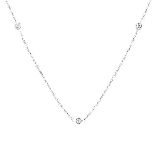 18 CARAT WHITE GOLD DIAMOND NECKLACE