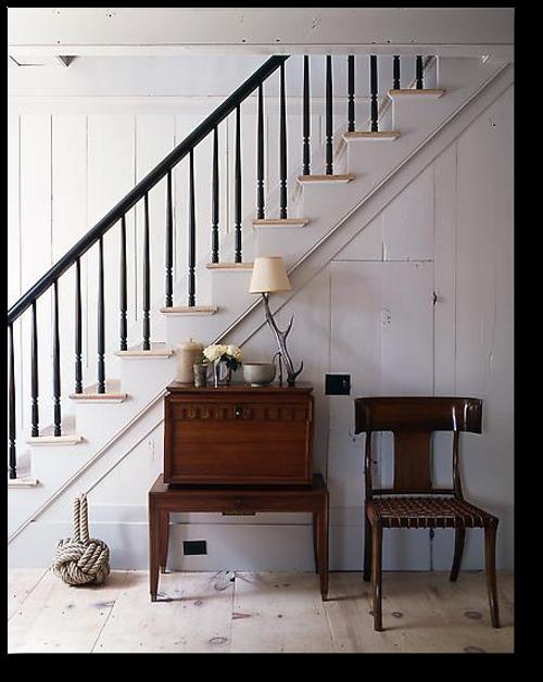 Lighting Basement Washroom Stairs: Get The Colonial Look- Designer Steven Gambrel's Sag
