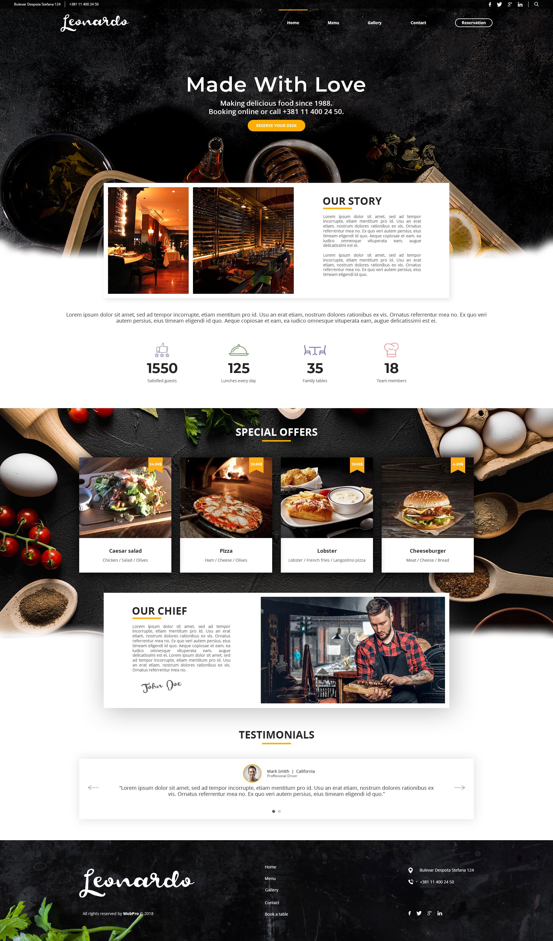 Restaurants Website In 2020 Restaurant Website Design Food Website Design Food Web Design