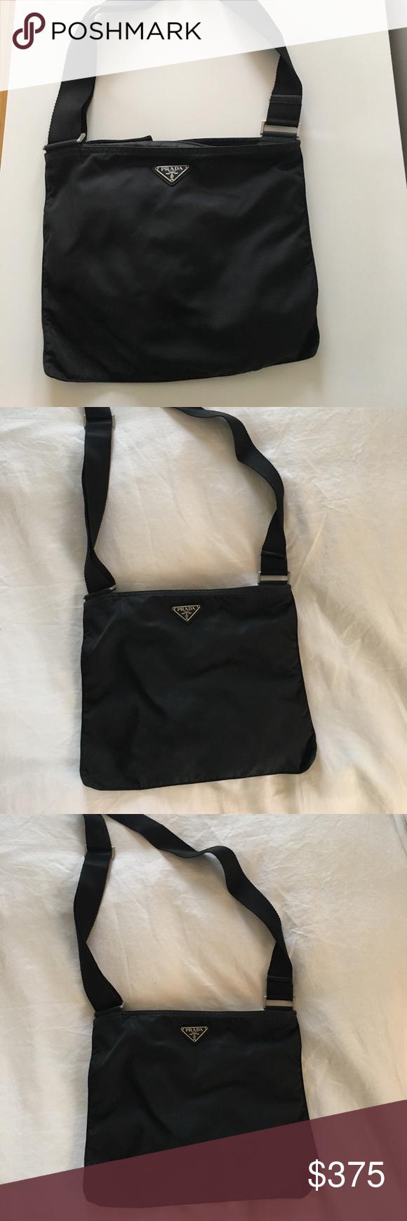 Vintage Prada Nylon Vela Crossbody Messenger Bag Black vintage Prada  messenger cross body bag.  No Trades  Prada Bags Crossbody Bags 5518a29d0c