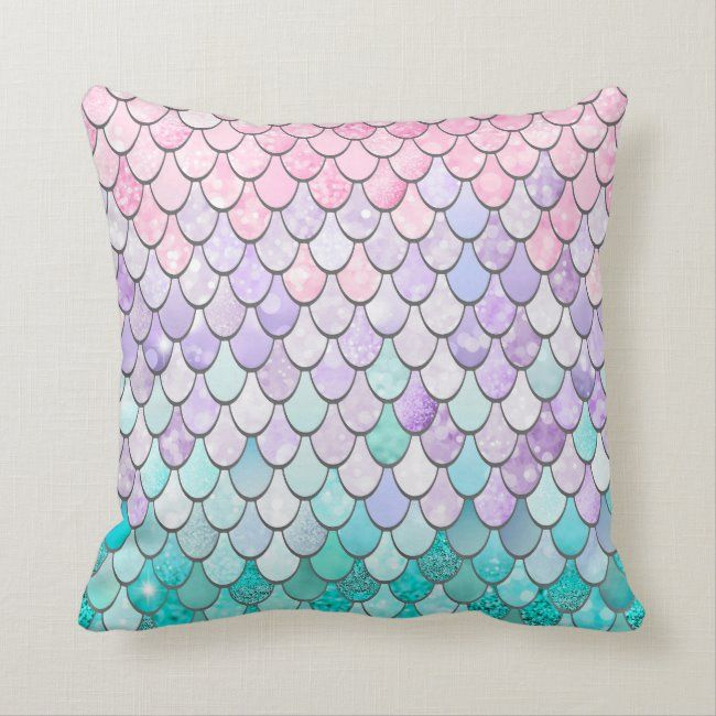 Mermaid Cushion, Girls Bedroom Decor Throw Pillow | Zazzle.com