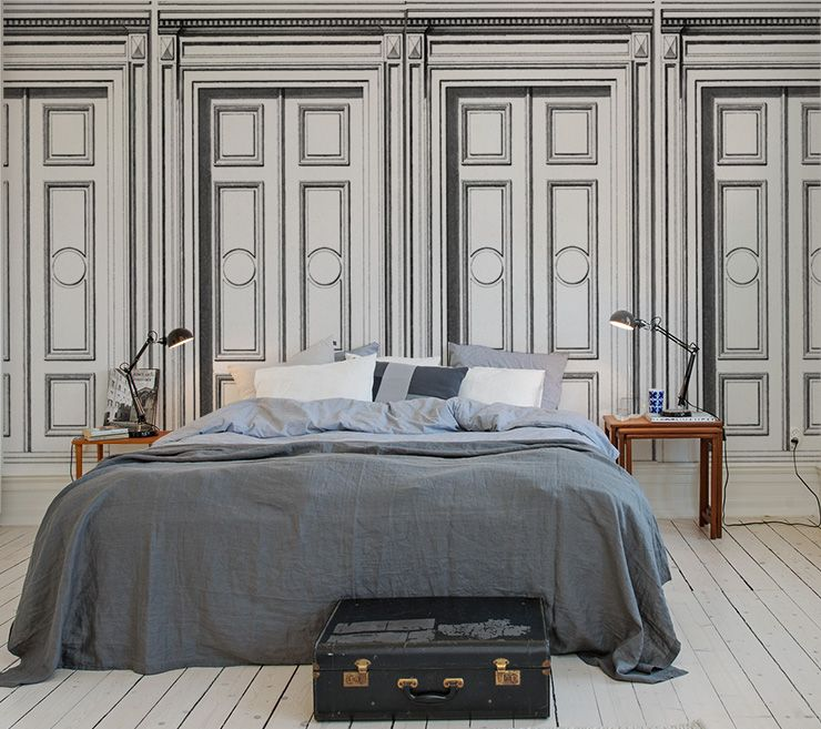 Au fil des couleurs papiers peints trompe l 39 oeil pour - Papier peint trompe l oeil pour chambre adulte ...