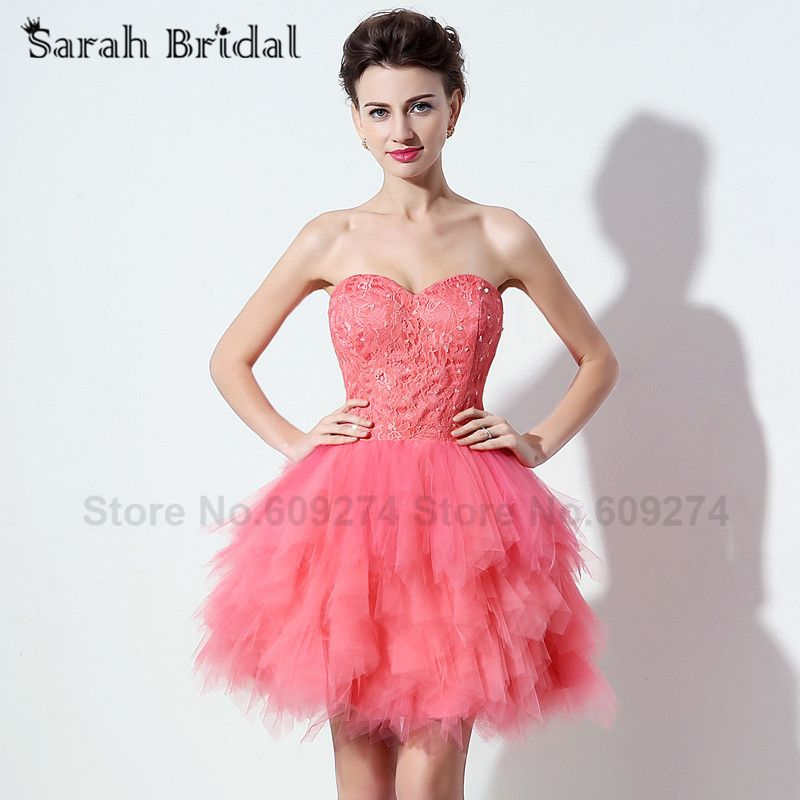 robe sexy corset Short Beaded Lace Sweetheart Prom Dresses Cocktail ...