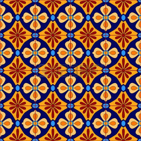 Tile mexican stylized talavera tiles seamless pattern in for Azulejo de talavera mexico