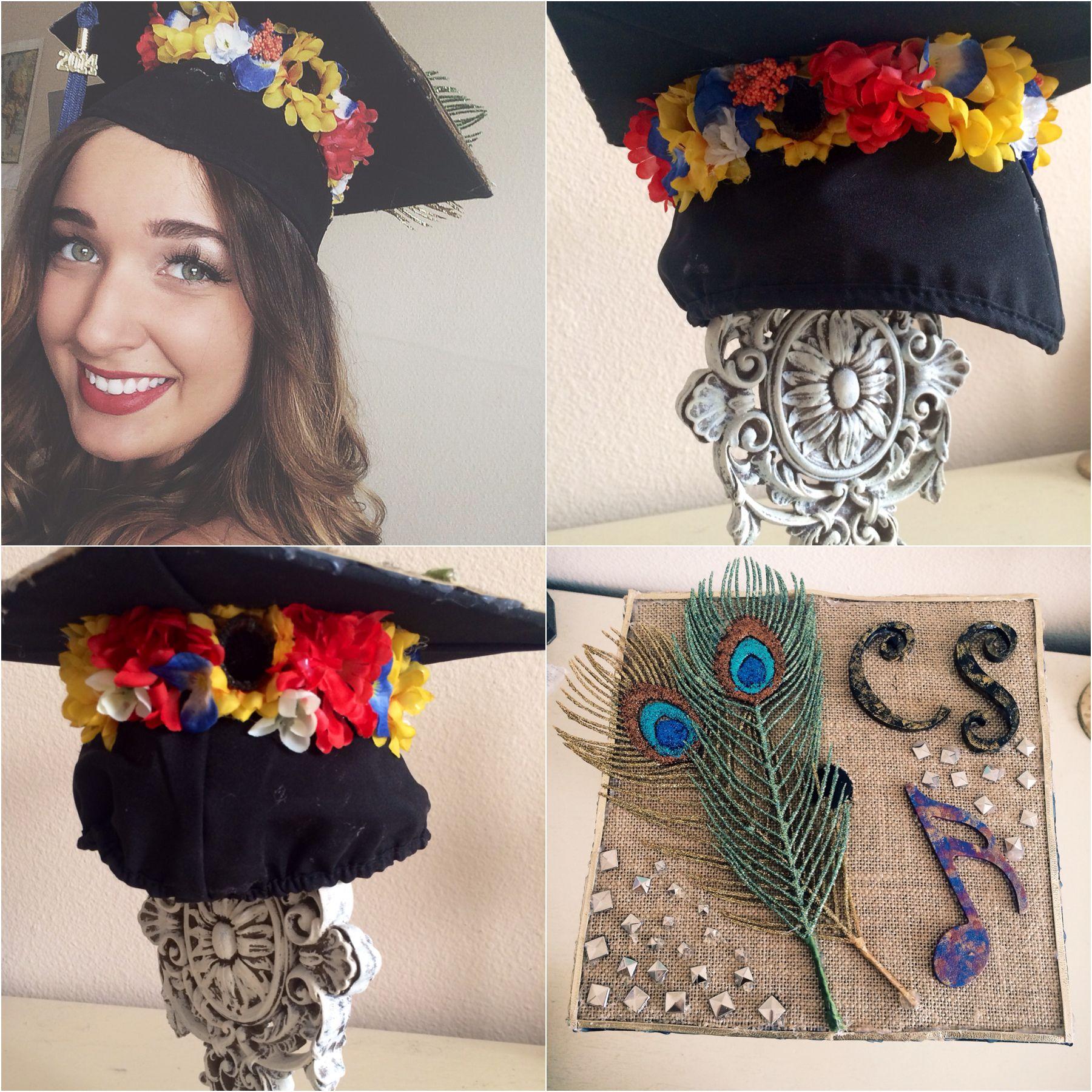 Flower Crown Graduation Cap Graduation Cap Pinterest Flower