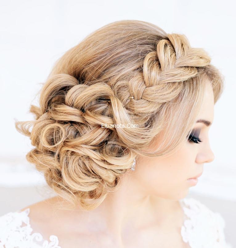 تسريحات عرايس 2014 احدث تسريحات عرايس بالتاج تسريحات شعر للعرائس 2014 ليلة العمر عروس Braided Hairstyles For Wedding Hair Styles Wedding Hair Inspiration