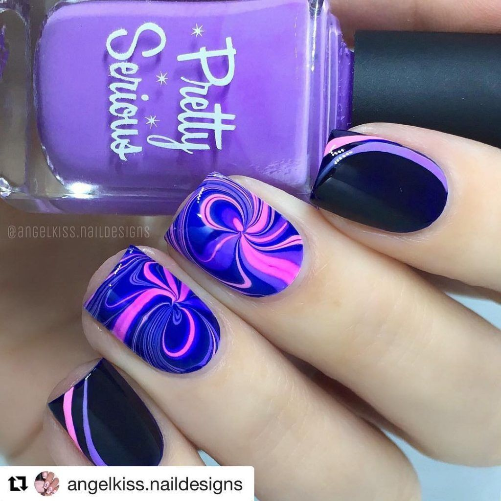 59 Water Marble Nails Designs Ideas 2018 Goth Pinterest Marble