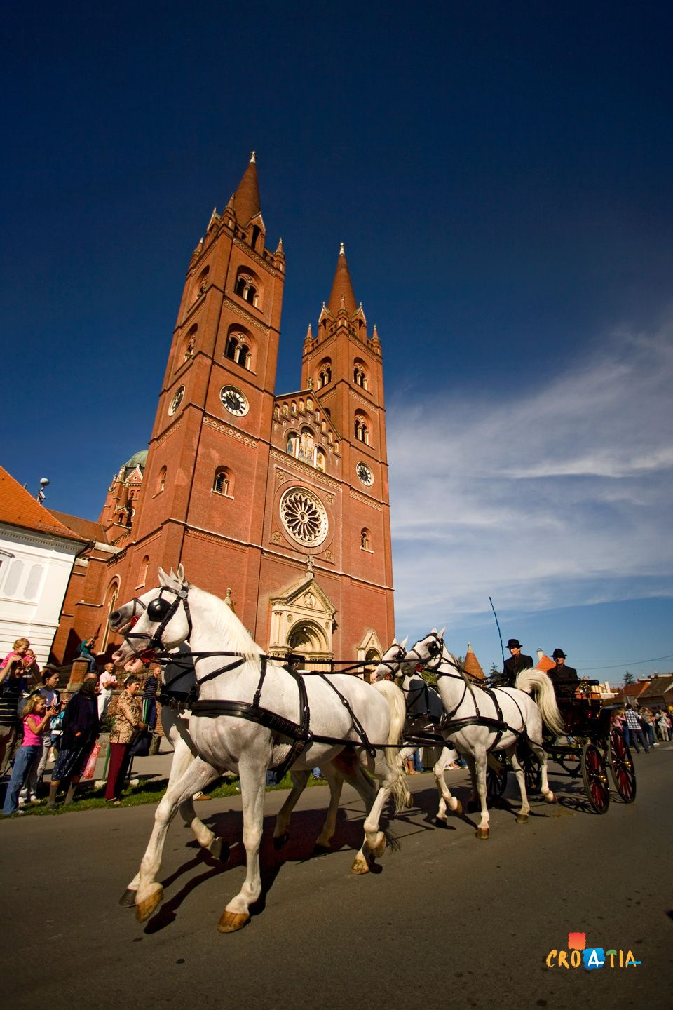 The largest sacral building in Slavonia is the cathedral in Đakovo, dedicated to St. Peter, and described by Pope John XXIII as the most beautiful church between Venice and Tsargrad. The festival of Đakovo Embroidery and the Midsummer Night Bonfire, as well as the stud farm of the famous Lipizzaner horse make Đakovo unique in Slavonia.