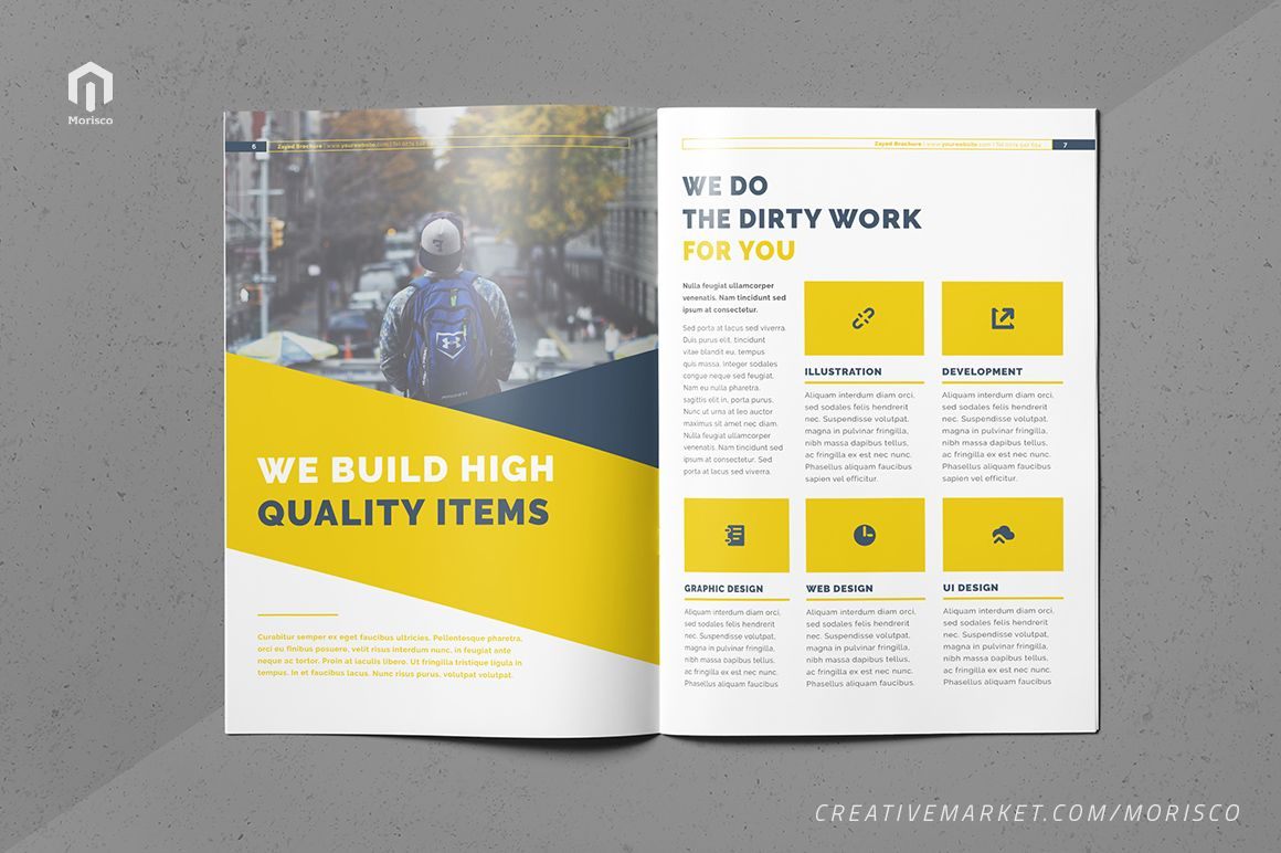The Business Brochure (With images) Brochure, Indesign