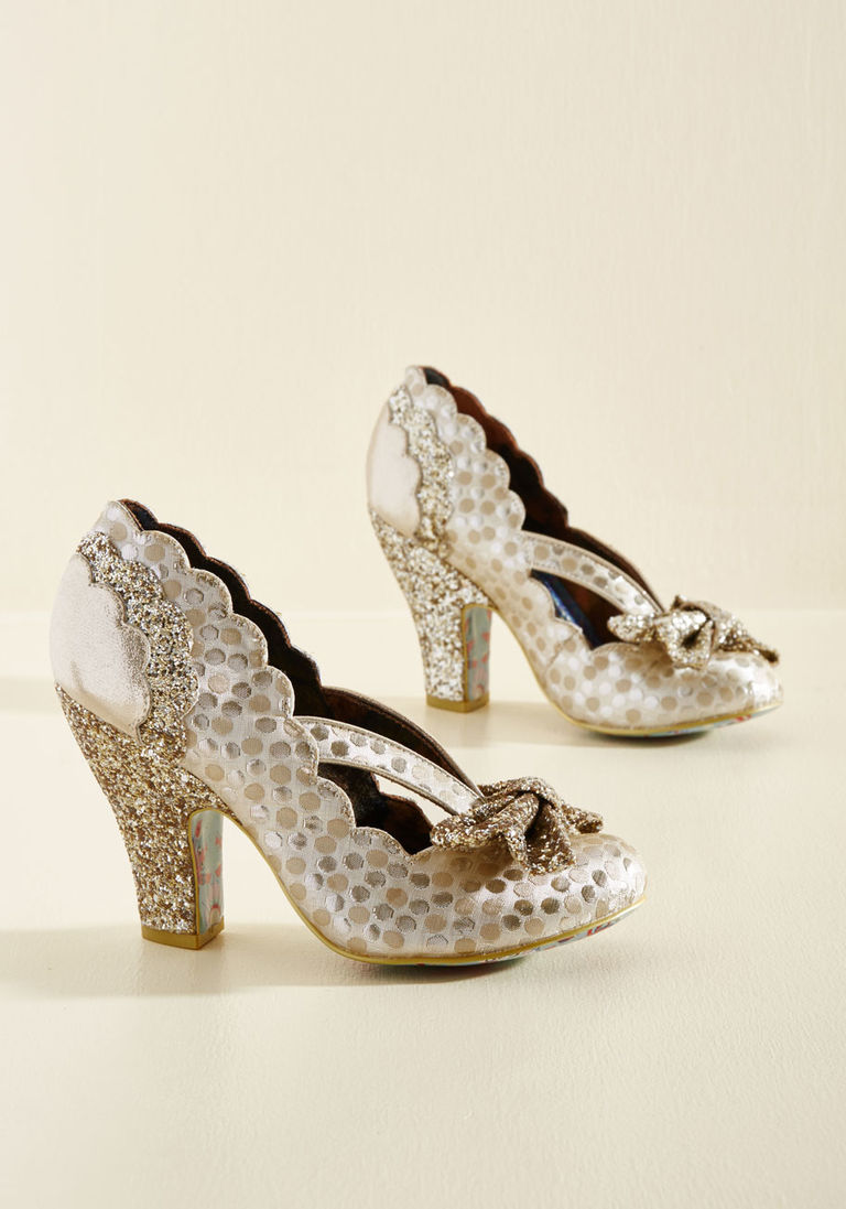a7e71fe8e0f Patterns at Display Metallic Heel in Gold