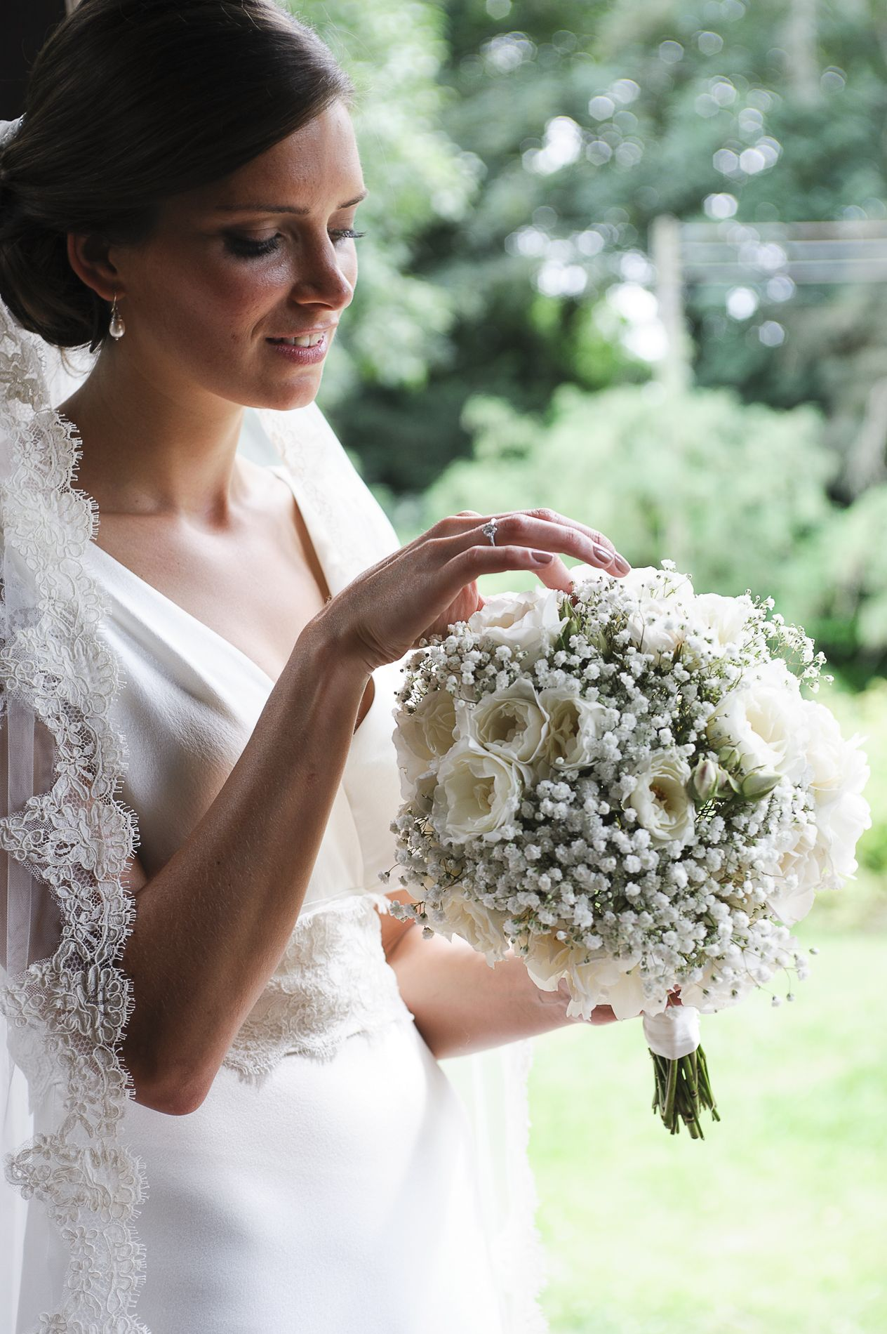Alice with her bouquet.  The Olde Rectory Wedding