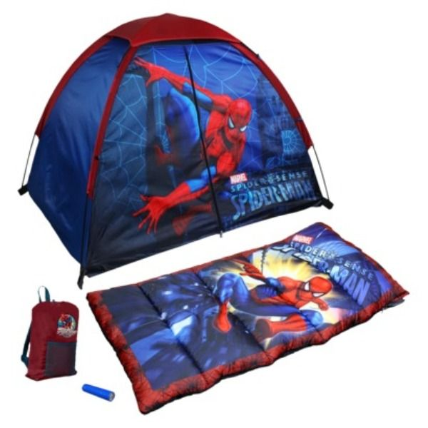 Spiderman C& Kit 4 Piece Tent Set C& out with Spiderman using a cool Marvel c&  sc 1 st  Pinterest & Spiderman Camp Kit 4 Piece Tent Set Camp out with Spiderman using ...