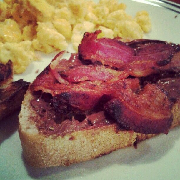 bread, Nutella, bacon - sounds good to me