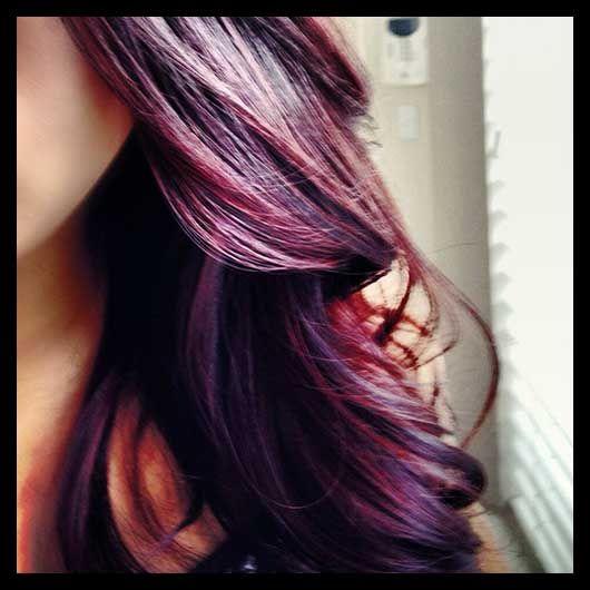 violet ombre hair color trends