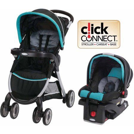 Graco FastAction Fold Click Connect Travel System, Car Seat Stroller