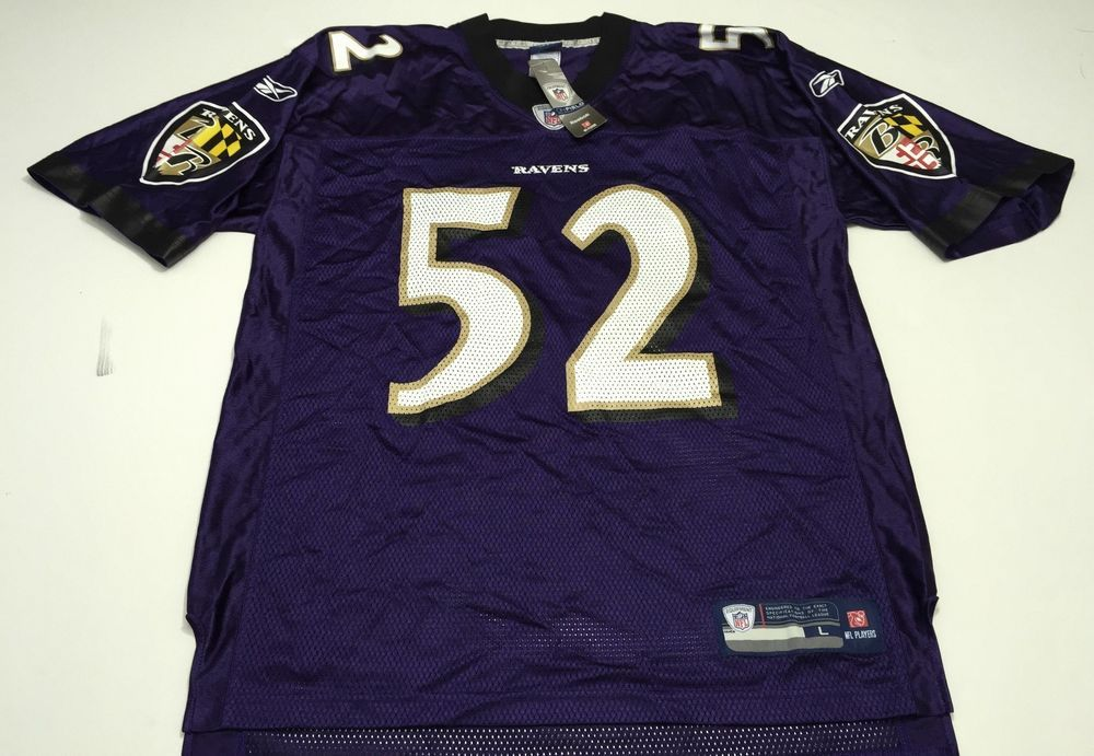 Ray Lewis Baltimore Ravens Jersey Large L Purple NFL On Field ...