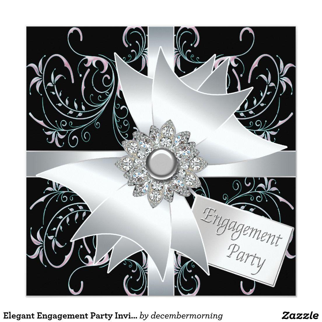 Elegant Engagement Party Invitations | Engagement party ...