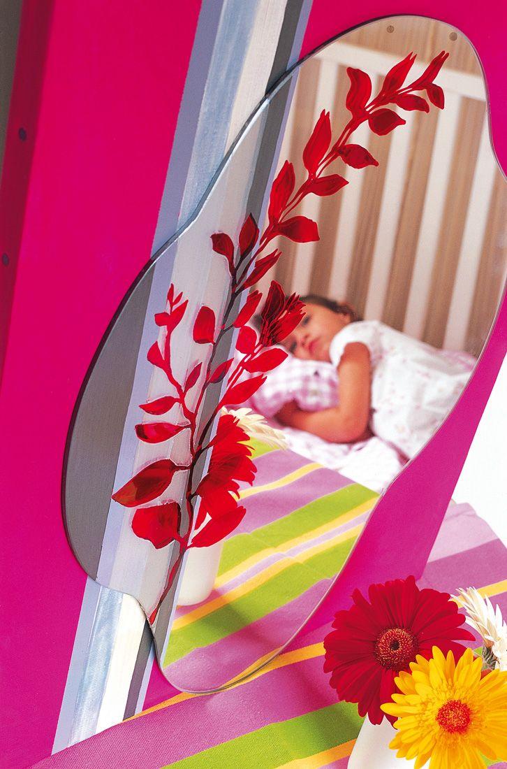 miroir d cor dans une chambre d 39 enfant d corer le verre la porcelaine pinterest miroirs. Black Bedroom Furniture Sets. Home Design Ideas