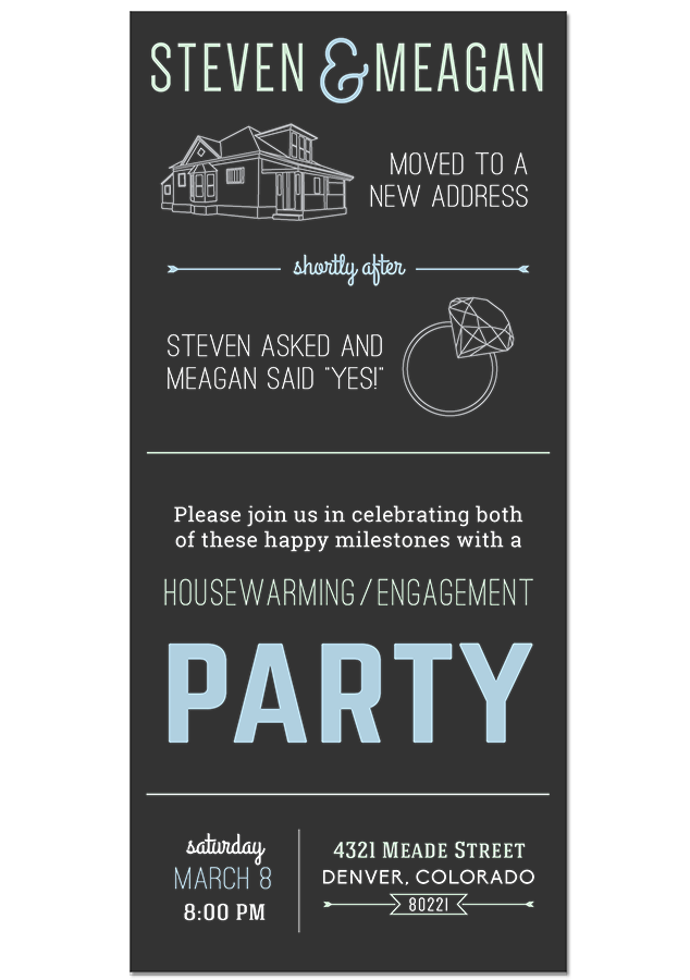 Housewarming Engagement Party Invitation By Meagan G Design