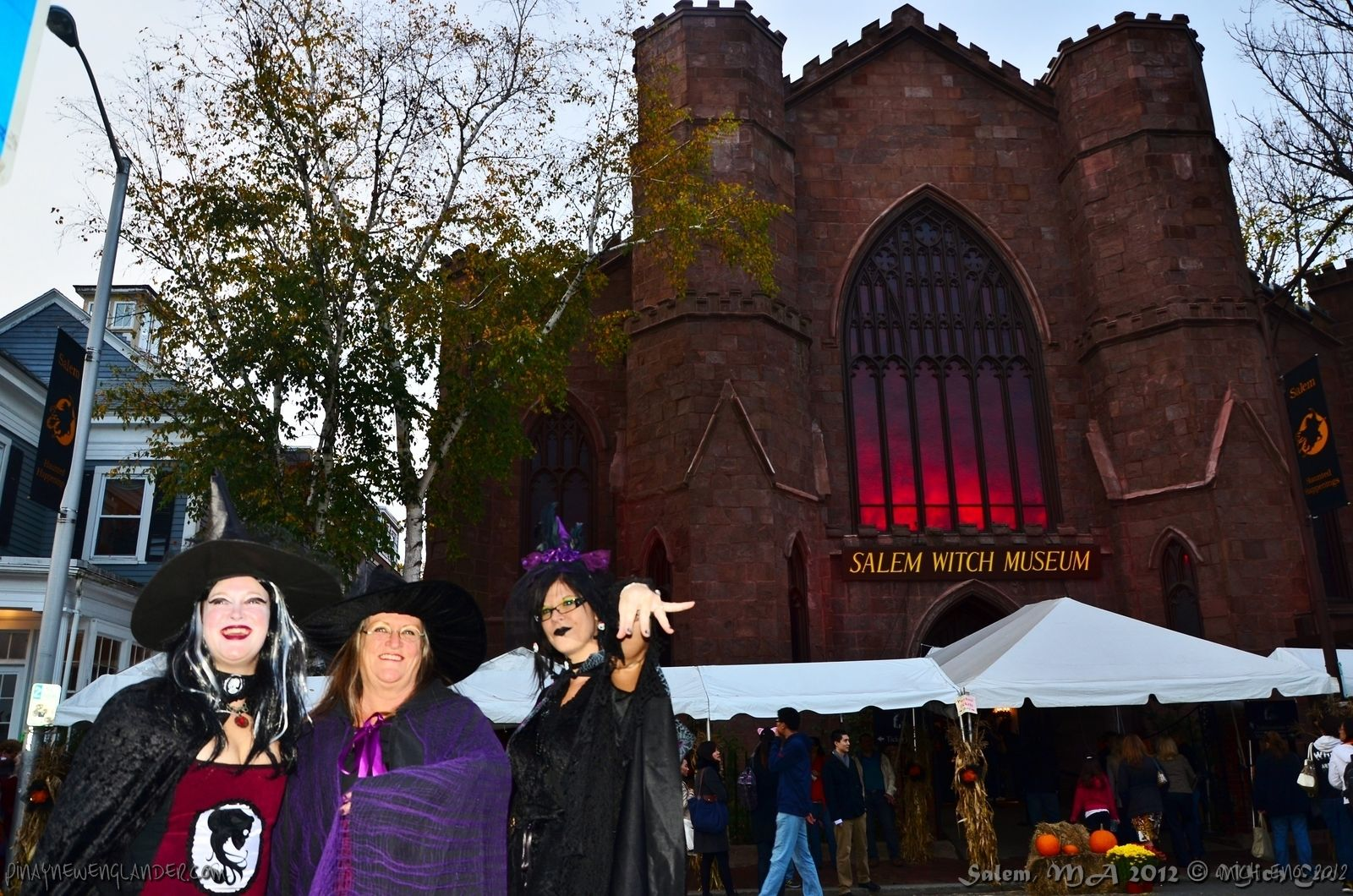 Halloween in Salem ... they're standing in front of the Witch ...