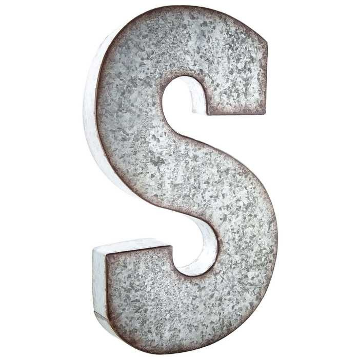 Large Silver Metal Letters Hobby Crafts & Decor  S Large Galvanized Metal Letter  Love It