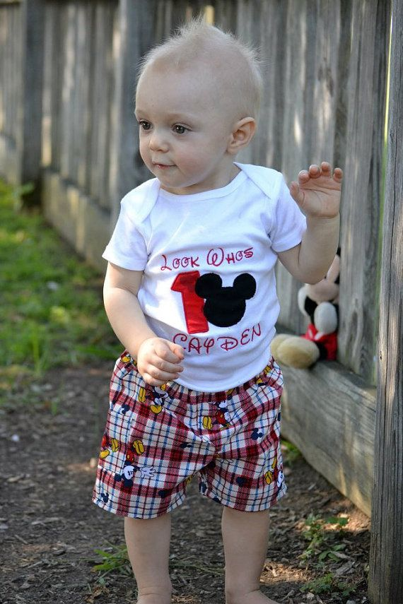 ae0208f9b6271 boys mickey mouse 1st birthday outfit by Bootleglaceboutique