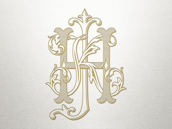 3 letter monogram for wedding monogram wedding logo design