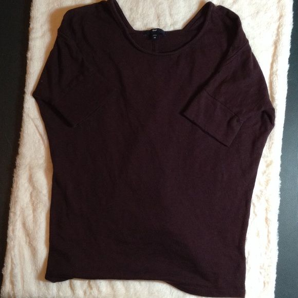 GAP Purple Top Purple summer blouse with banded sleeves.     100% cotton. Machine washable. In excellent condition, no rips tears or stains. GAP Tops