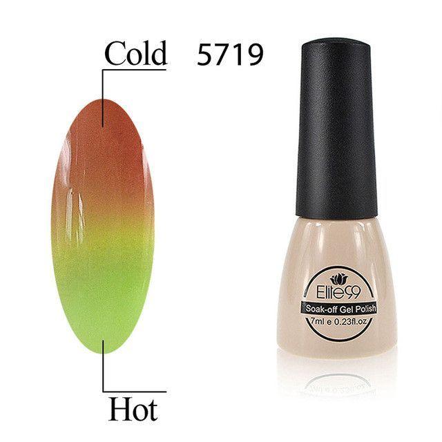 Elite99 7ml Temperature Change Chameleon Color Changing UV Nail Gel ...