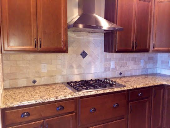 Kitchen Backsplash Lowes diy backsplash .. tile from lowes grout from home depot -alabaster