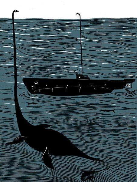 Nessie Loch Ness monster | рисунки,иллюстрации,искусство ...