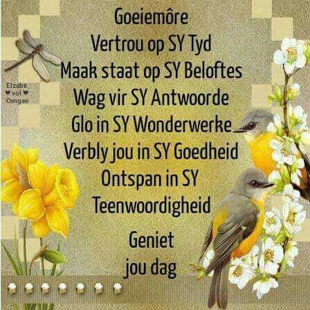 Pin by marie odendaal on oggend pinterest afrikaans and religion evening greetings goeie more afrikaans mornings messages christianity prayers religion message passing m4hsunfo Images
