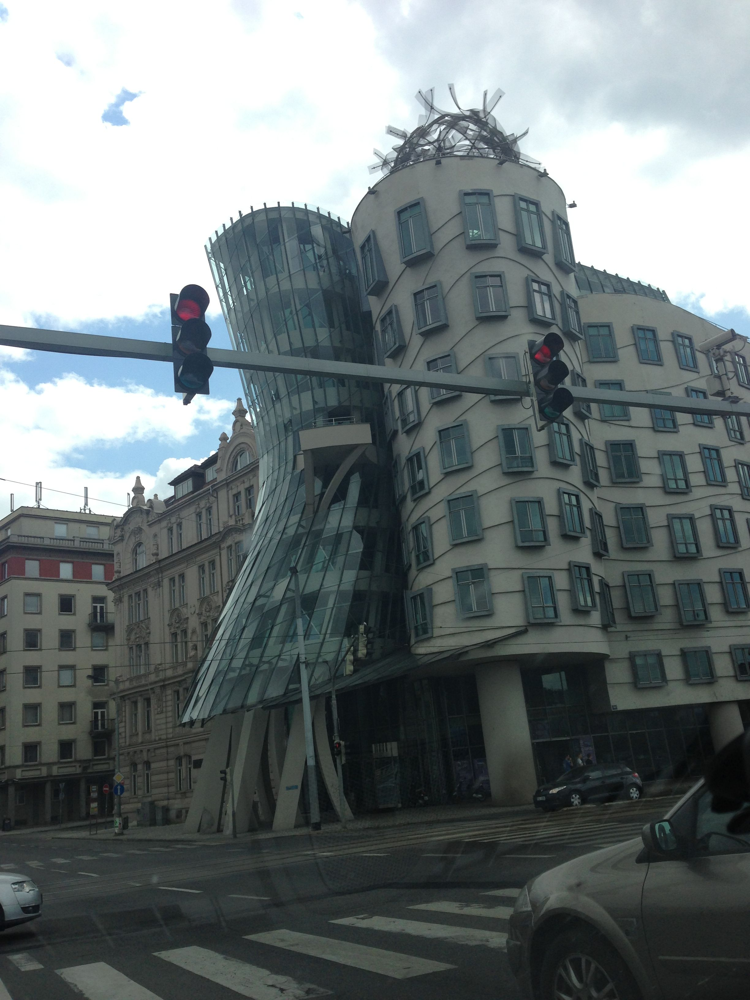 Heavily damaged building by earthquake.... No, this is architecture!
