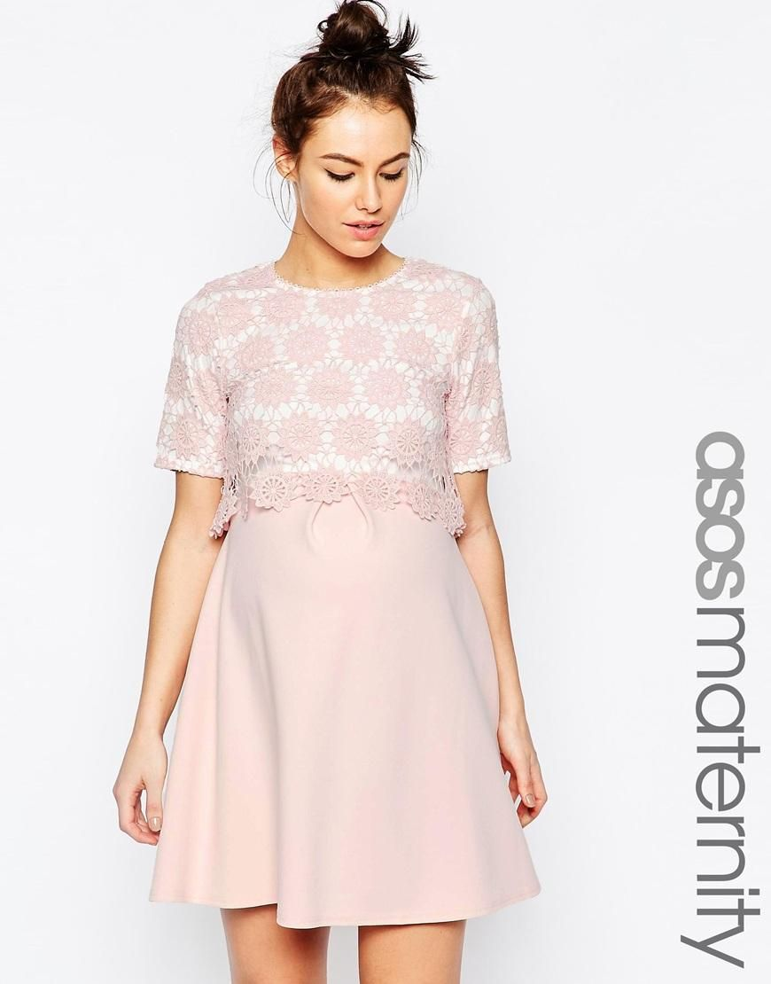 69 asos maternity asos maternity lace double layer a line dress 69 asos maternity asos maternity lace double layer a line dress at asos ombrellifo Image collections