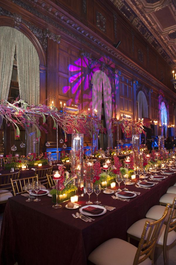Show-Stopping Red Bar Mitzvah at the University Club of New York #barmitzvah #batmitzvah #design #decor #party