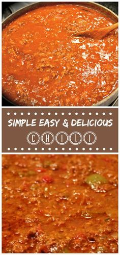 Simple And Easy Ground Beef Chili Happily Unprocessed Recipe Delicious Chili Recipe Basic Chili Recipes Chilli Recipe Easy