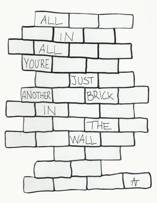 Just Another Brick In The Wall Pink Floyd Quotes Brick In The