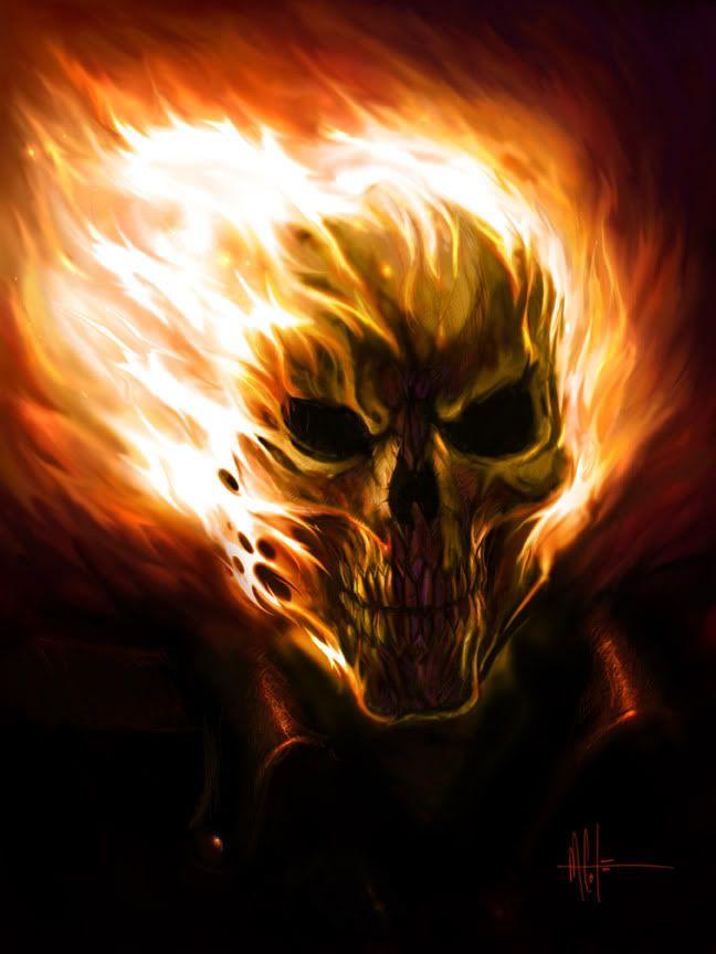 Akuma VS Ghost Rider))...