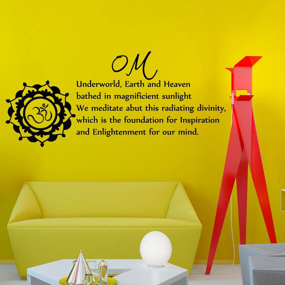 Wall Decals Yoga Namaste Mantra Om Underworld, Earth and Heaven ...