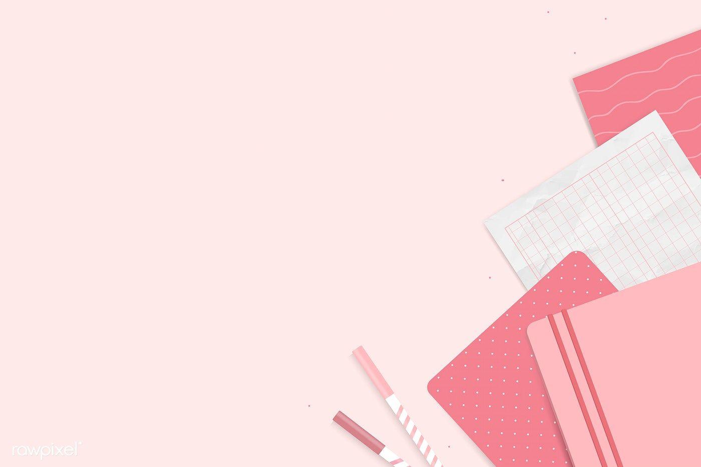 Download Premium Vector Of Pink Notepad Planner Set Vector 1209449 Powerpoint Background Design Planner Set Pink Notepad