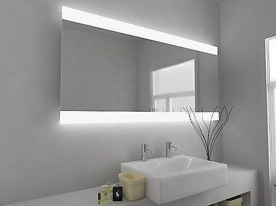 Led Illuminated Bathroom Mirror With Sensor And Demister Pad C49 Bathroom Mirror Modern Mirror Design Led Mirror Bathroom