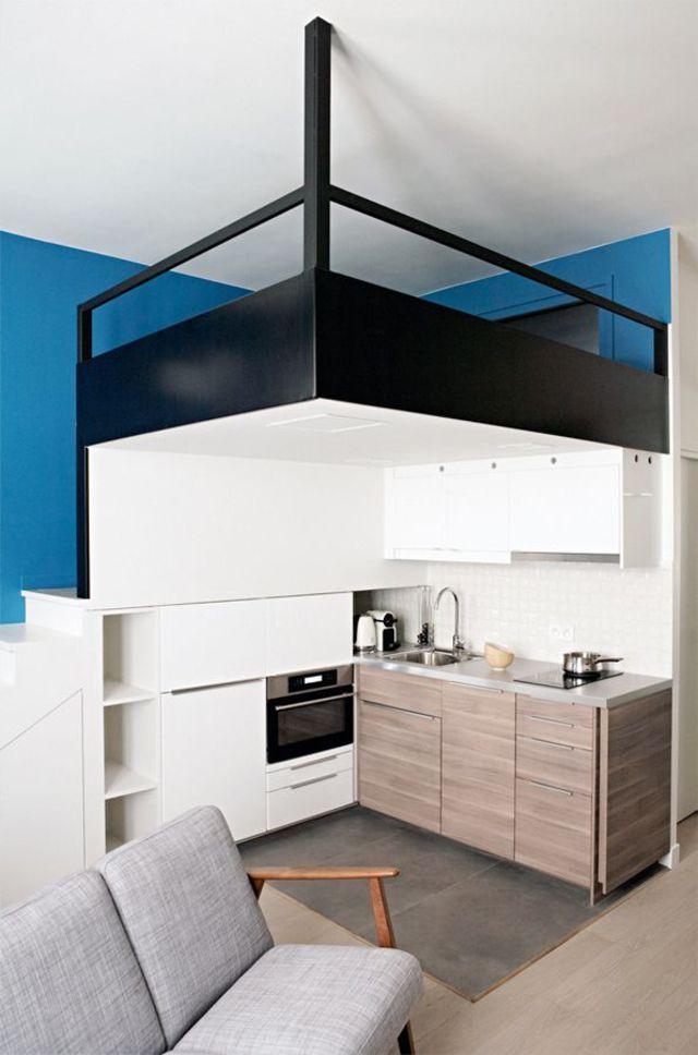 am nager une chambre dans un studio inspiration d co. Black Bedroom Furniture Sets. Home Design Ideas