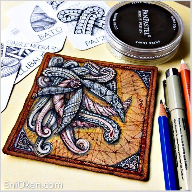 Learn to draw Zentangle®️️ • enioken.com