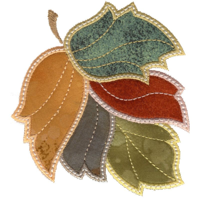 Colorful Leaf Applique 1