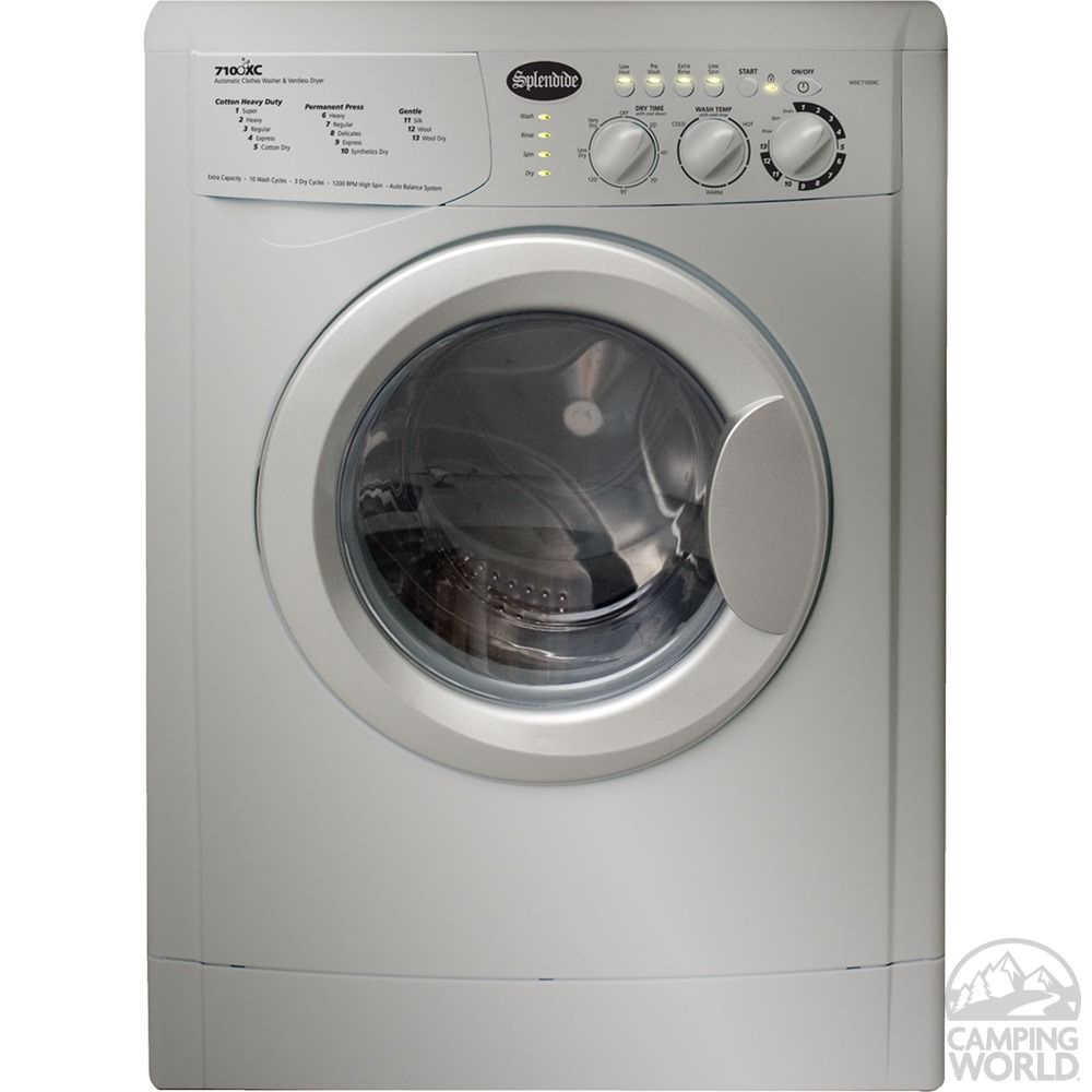 Splendide 7100 Xc Washer Dryer Platinum 120v For Rv Use Rv Washer Dryer Washer Dryer Combo Ventless Dryer