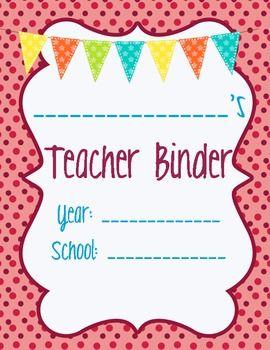 teacher binder separator basics teaching classroom ideas